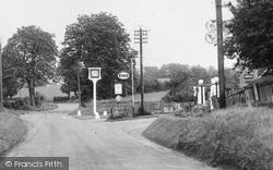 Garage And Plough Inn, Afton Road c.1955, South Warnborough