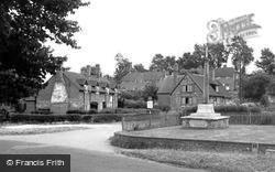 The Village And War Memorial c.1955, South Warnborough