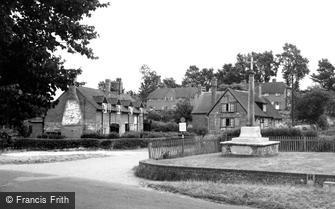 South Warnborough, the Village and War Memorial c1955