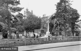 South Woodford, St Mary's Church and War Memorial Cross 1921