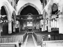 Southam, Interior Of  Parish Church c.1965