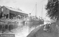 Barges On The River c.1900, Southampton