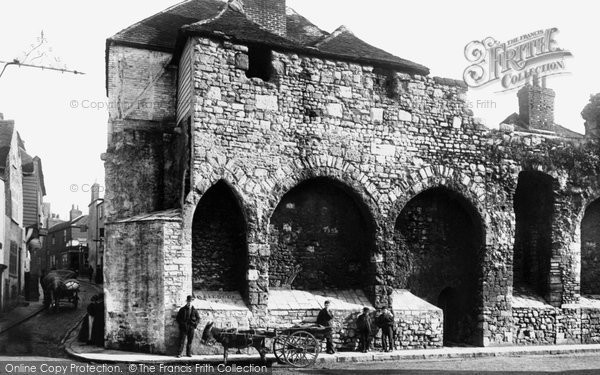 Old Town Walls 1892, Southampton photo