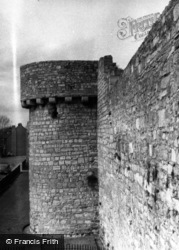 Town Walls And Catchcold Tower 1958, Southampton