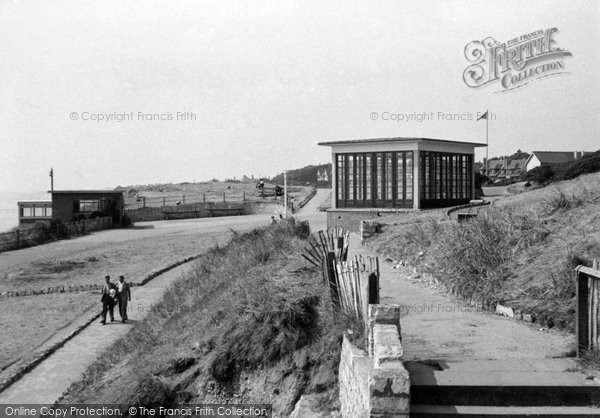 Photo of Southbourne, The Cliff And The Bandstand c.1950