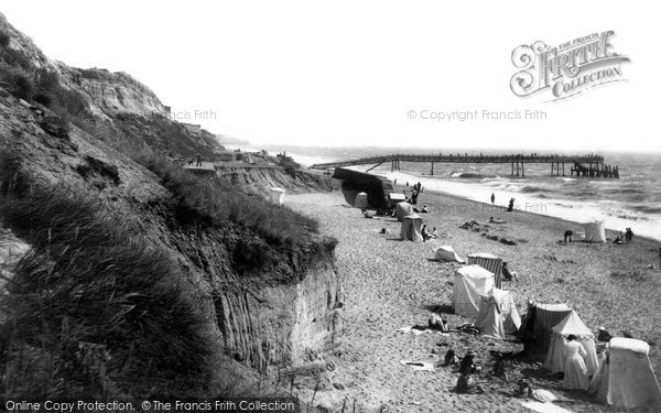Photo of Southbourne, The Pier And Beach 1908