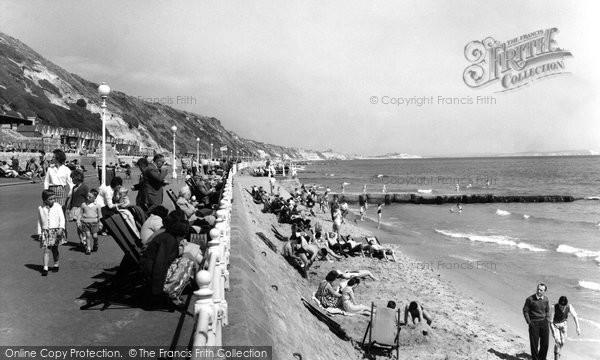 Southbourne, the Promenade c1955