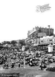 Southend-on-Sea, Palace Hotel And Beach c.1950