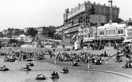 Southend-on-Sea, the Boating Lake and Pier Hill c1950