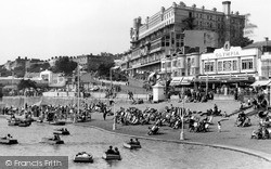 Southend-on-Sea, The Boating Lake And Pier Hill c.1950