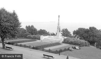 Southend-on-Sea, the War Memorial c1955