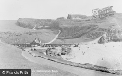 Beach And Dunraven Castle c.1955, Southerndown