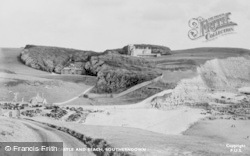 Dunraven Castle And Beach c.1955, Southerndown