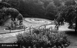 Southport, Floral Clock Garden, Hesketh Park c.1955