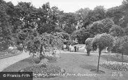 Floral Clock Gardens, Hesketh Park c.1955, Southport