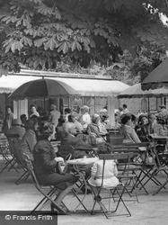 Taking Tea, Municipal Gardens Cafe c.1965, Southport