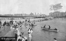 The Pier And South Lake c.1895, Southport