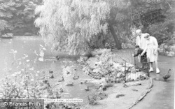 Southport, The Pond, Hesketh Park c.1955