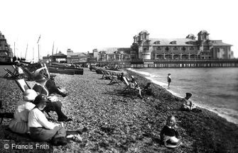 Southsea, Sands and Pier 1921