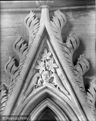 Southwell, Minster, Capital In Chapter House 1929