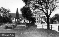 Southwick, The Memorial And Bus Stop c.1950
