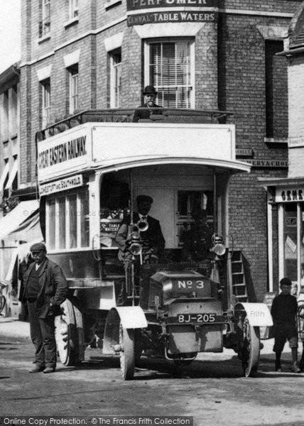 Southwold, A Double Decker Bus 1906