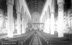 Southwold, Church Interior c.1900