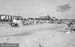 Southwold, Pavilion And Beach c.1950