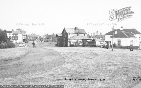 Photo of Southwold, South Green c.1954