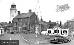 St James Green And Lighthouse c.1950, Southwold