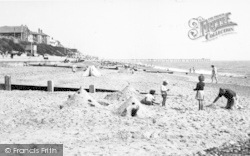 The Beach And Pier c.1954, Southwold