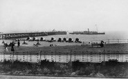 Southwold, the Pier with the London Boat leaving 1906