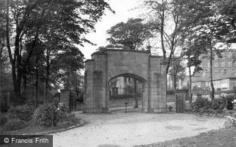 Sowerby Bridge, the War Memorial Gate, Crow Wood Park c1955