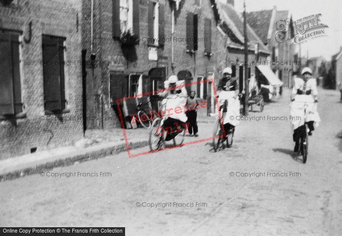 Photo of Spakenburg, Women On Bicycle c.1930