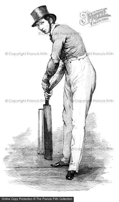 Photo of 19th Century Cricket Batsman