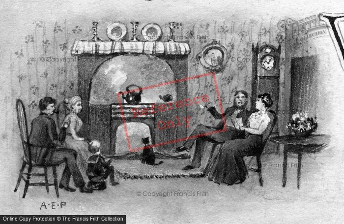 Photo of A Family Evening In The Parlour 1911