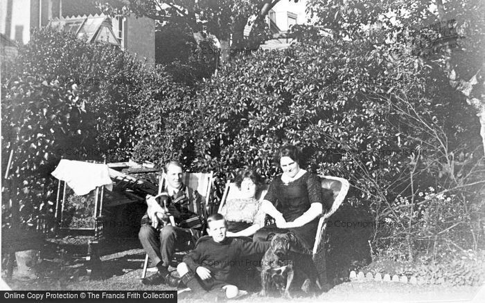 Photo of A Family In The Garden c.1912