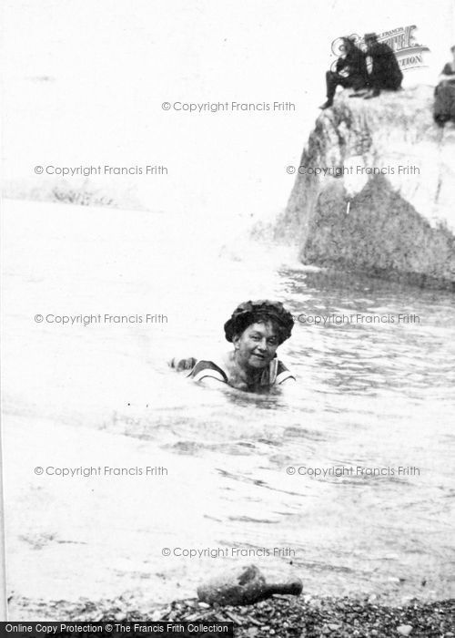 Photo of A Lady Swimming c.1912