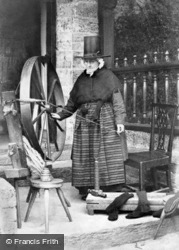 A Welsh Lady Spinning c.1863