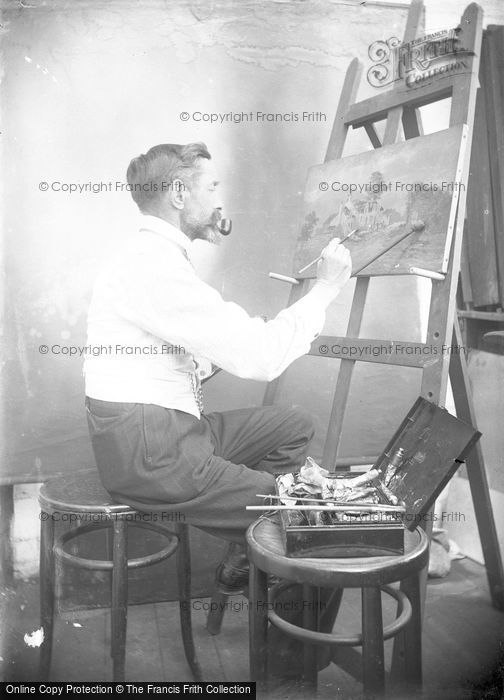 Photo of An Artist c.1900