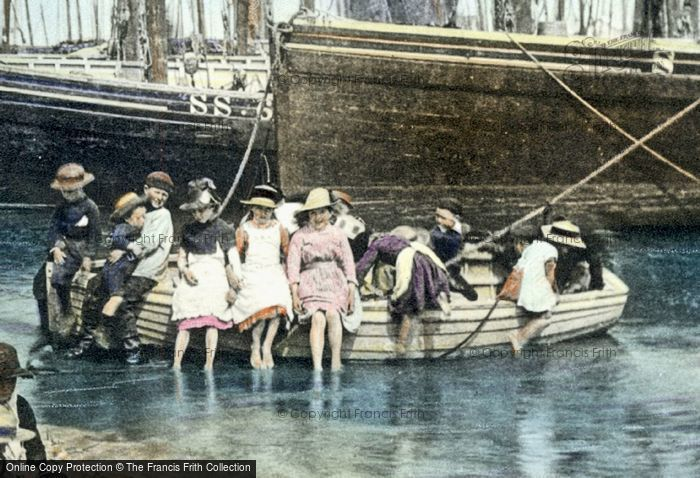 Photo of Children On A Rowing Boat 1890