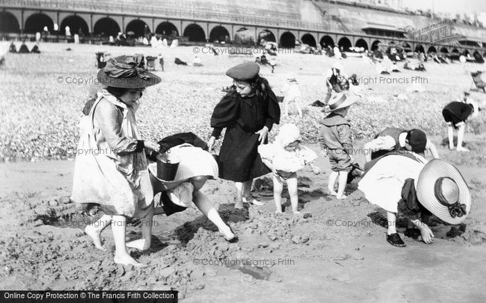 Photo of Children On The Beach c.1900