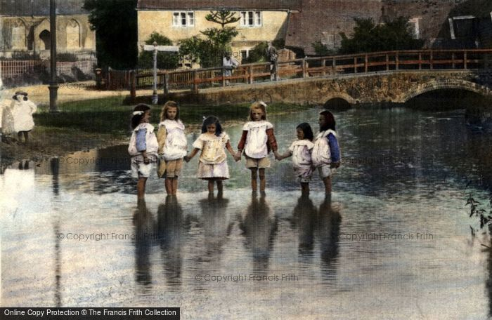 Photo of Children Paddling In The River 1904