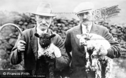 Special Subjects, Cumbrian Shepherds with Lambs c1900