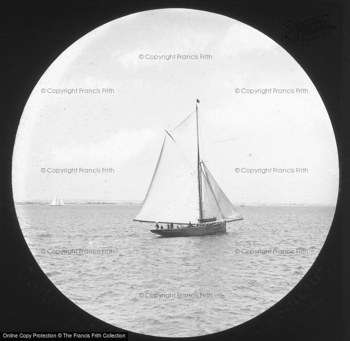 Photo of Cutter In The Solent c.1880