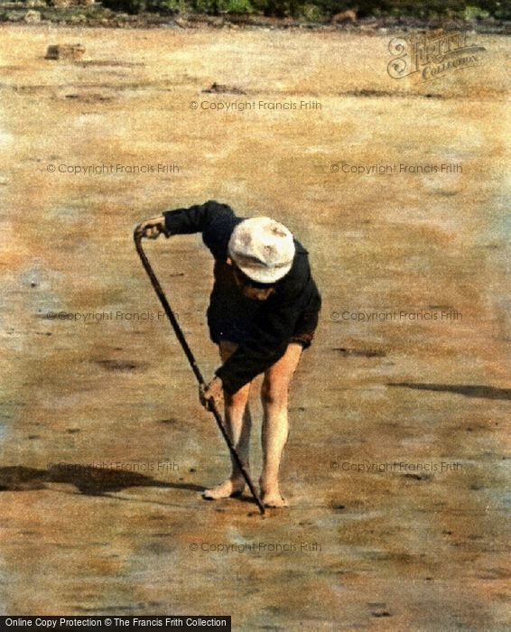 Photo of Digging On The Beach 1894