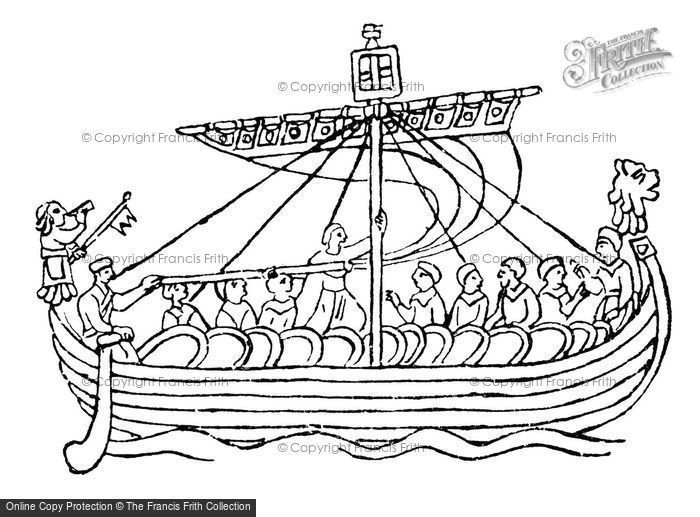 Photo of Duke William In His Flagship 'the Mora', From The Bayeux Tapestry