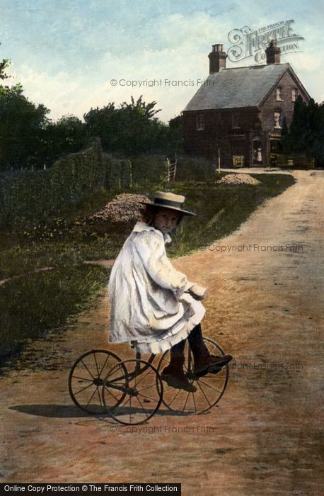 Photo of Girl On A Tricycle 1908