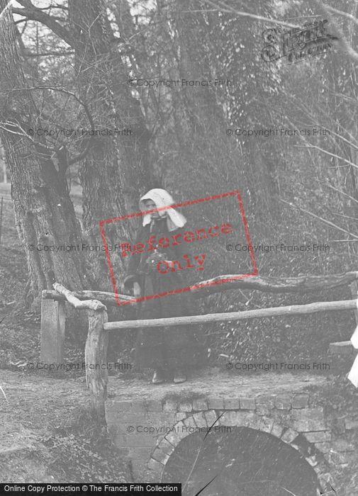 Photo of Girl On Bridge c.1890