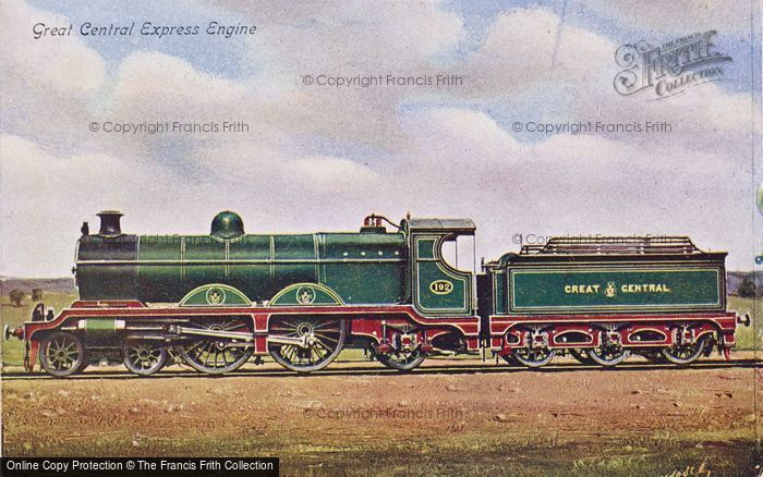 Photo of Great Central Express Engine c.1908